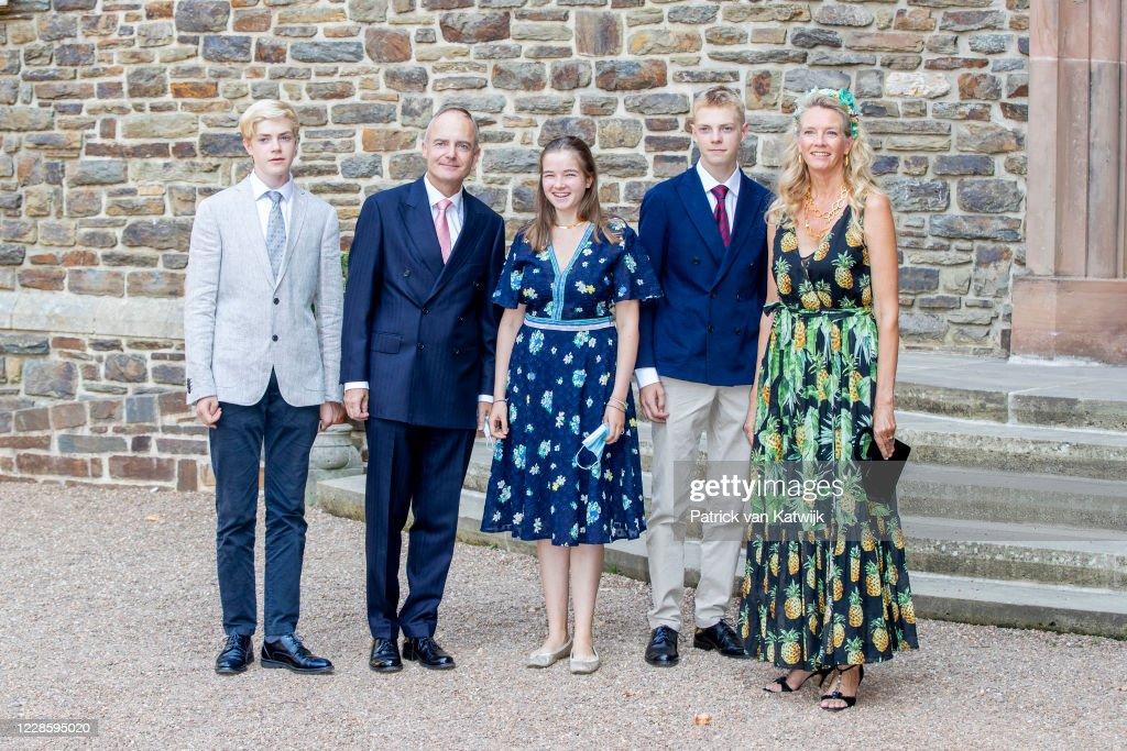 Baptism Of Prince Charles of Luxembourg At L'abbaye St Maurice De Clervaux : Nieuwsfoto's