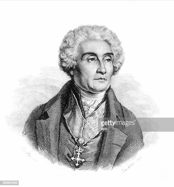Count Joseph de Maistre French writer and diplomat Line and stipple engraving French 19th century