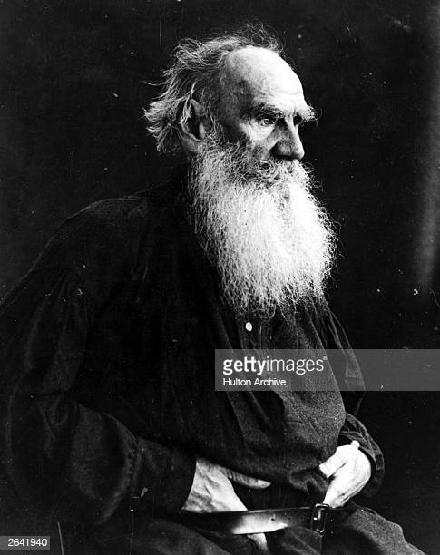 Count Leo Nikolayevich Tolstoy, , Russian writer.