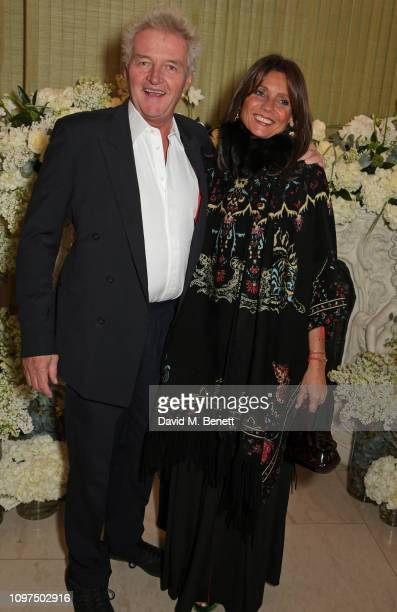 Count Leopold von Bismarck and Countess Debonnaire von Bismarck attend the British Vogue and Tiffany Co Celebrate Fashion and Film Party at Annabel's...