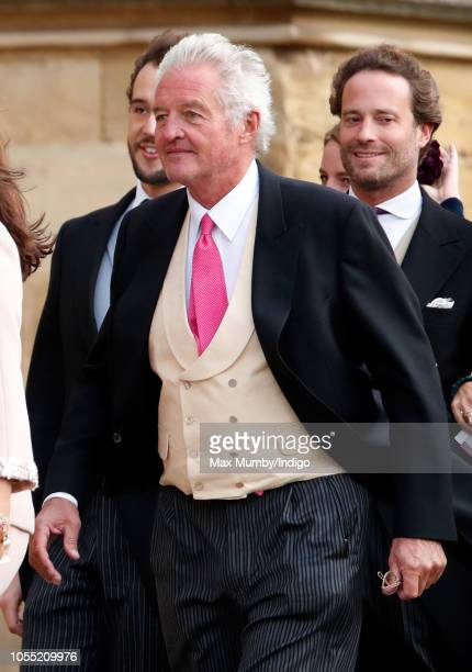 Count Leopold von Bismarck attends the wedding of Princess Eugenie of York and Jack Brooksbank at St George's Chapel on October 12 2018 in Windsor...