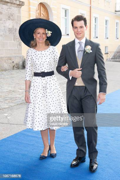 Count Maximilian of Andigne arrives at the SaintQuirin Church prior his wedding with his mother Countess Marie Adelaide of Andigne at the Castle of...
