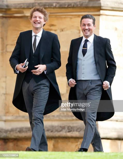 Count Nikolai von Bismarck and Dave Gardner attend the wedding of Princess Eugenie of York and Jack Brooksbank at St George's Chapel on October 12...