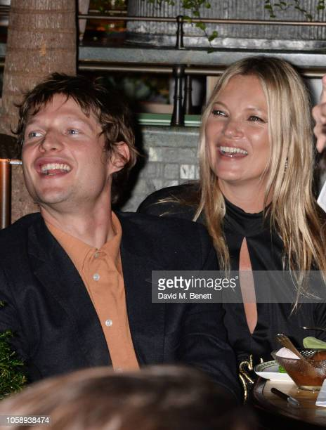 Count Nikolai von Bismarck and Kate Moss attend the Annabel's Art Auction fundraiser in aid of Teenage Cancer Trust Teen Cancer America at Annabel's...