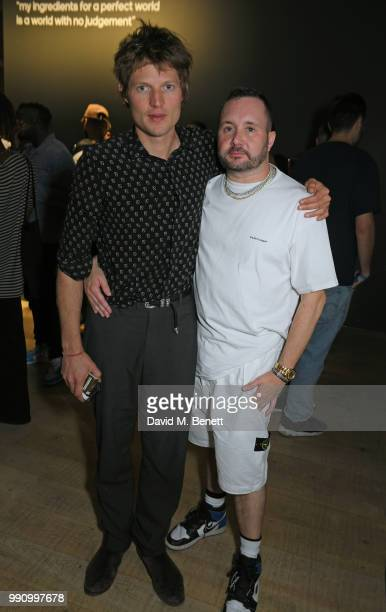 Count Nikolai von Bismarck and Kim Jones attend adidas 'Prouder' A Fat Tony Project in aid of the Albert Kennedy Trust supporting LGBT youth at Heni...