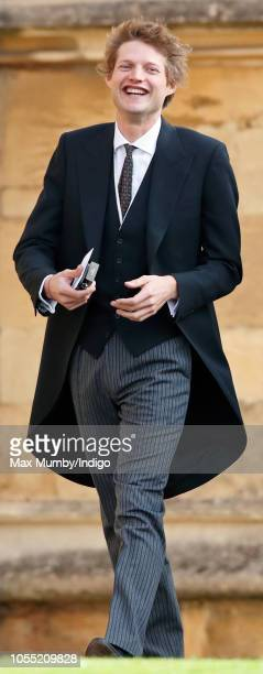 Count Nikolai von Bismarck attends the wedding of Princess Eugenie of York and Jack Brooksbank at St George's Chapel on October 12 2018 in Windsor...