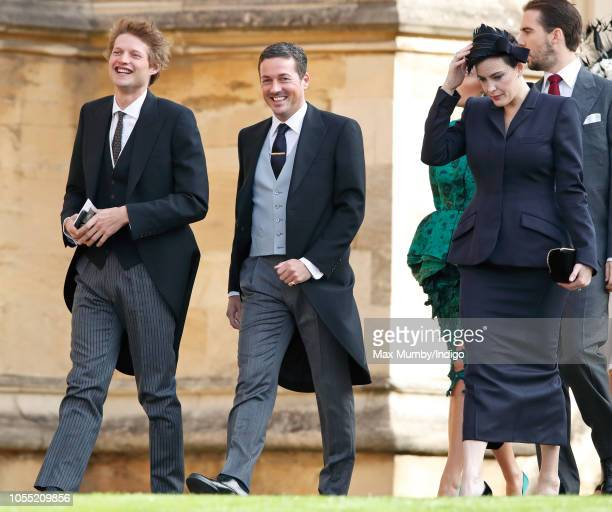 Count Nikolai von Bismarck Dave Gardner and Liv Tyler attend the wedding of Princess Eugenie of York and Jack Brooksbank at St George's Chapel on...