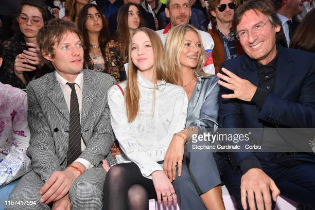 Count Nikolai von Bismarck Lila Grace Moss Hack Kate Moss and Pietro Beccari attend the Dior Homme Menswear Spring Summer 2020 show as part of Paris...