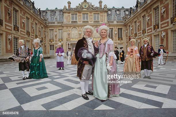 Count of Provence future King Louis XVIII and Louise Marie Adelaide de Bourbon Duchess of Orleans Talleyrand Marquis de La Fayette Yolande Martine...