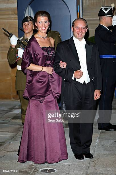 Count Olivier de Lannoy and Countess Alice de Lannoy attend the Gala dinner for the wedding of Prince Guillaume Of Luxembourg and Stephanie de Lannoy...