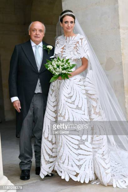 Count Riprand von ArcoZinneberg and his daughter Countess Olympia Von ArcoZinneberg attend the Wedding of Prince JeanChristophe Napoleon and Olympia...