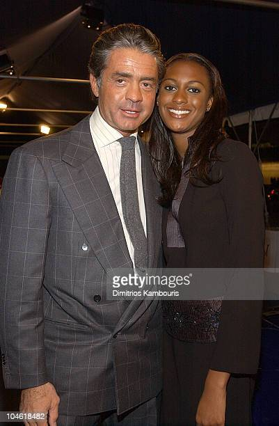 Count Roffredo Gaetani and guest during The Return Of Maserati To America at Four Seasons Restaurant in New York City New York United States