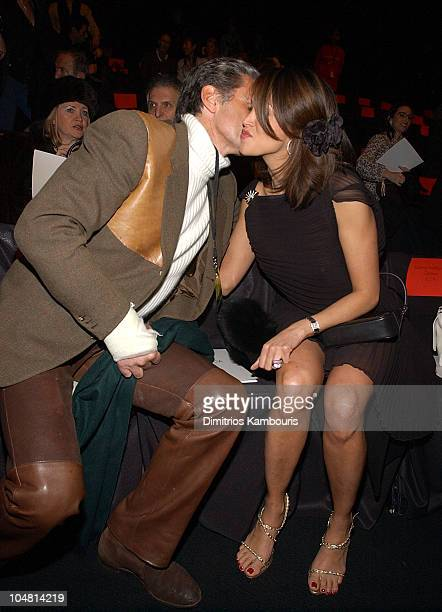 Count Roffredo Gaetani and Kara Young during Mercedes Benz Fashion Week Fall 2003 Collections Luca Luca Front Row at Bryant Park in New York City New...