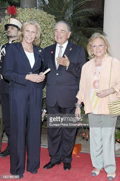 Count Rudi Rudolf zu SchoenburgGlauchau and Ana Gamazo attend the homage to Count Rudi in his 80th birthday on September 25 2012 in Marbella Spain