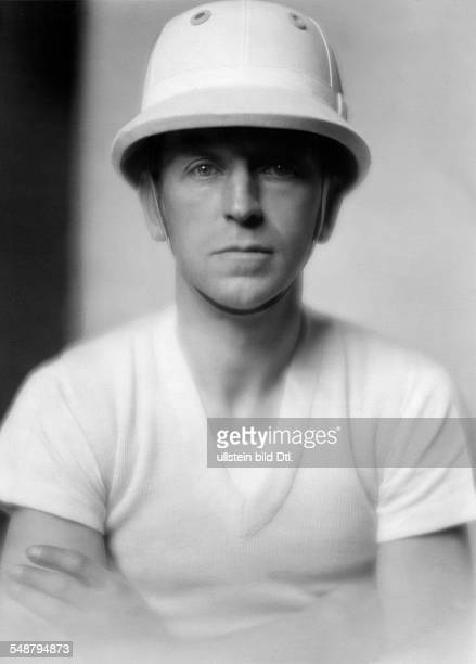 Count Rudolf of Schaesberg Sportsman Polo player Portrait with a riding helmet about 1927 Photographer Mario von Bucovich Published by 'Die Dame'...