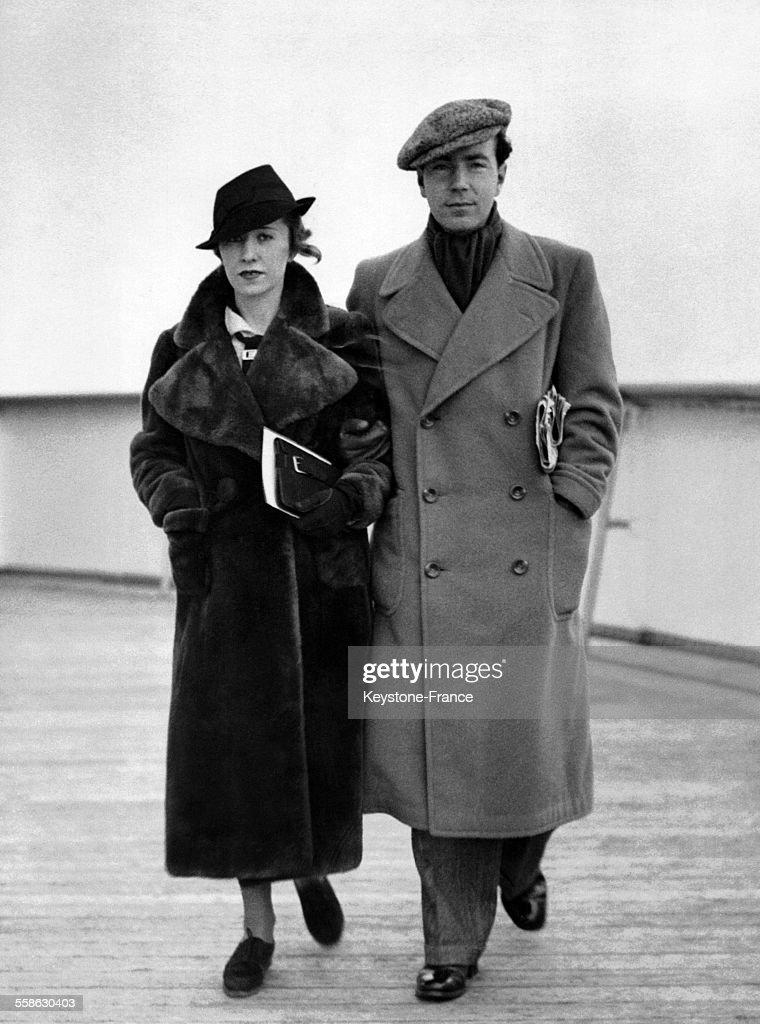 Count Sigvard Bernadotte of Wisborg and wife Erica Maria Patzek : News Photo