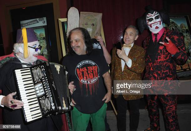 Count Smolula Ron Jeremy Lloyd Kaufman and Sgt Kabukiman NYPD attend the Film Opening of 'Return to Return to Nuke 'Em High Aka Vol 2 ' held at...