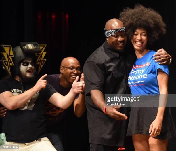 Count Zapula DJ Mahogany Elite Tha Showstoppa and Lingua Franca celebrate Lingua Franca's win for Best Hip Hop at the Flagpole Athens Music Awards...