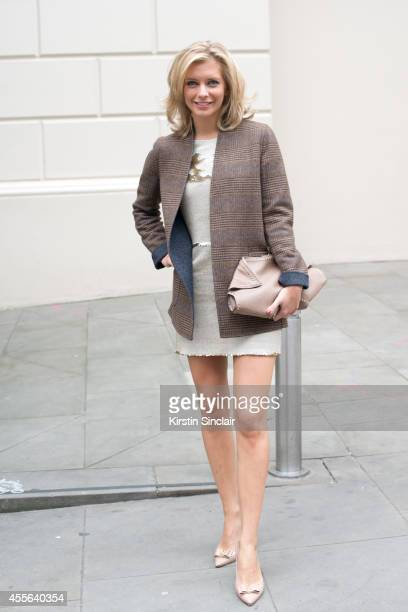 Countdown Presenter Rachel Riley on day 2 of London Collections Women on September 13 2014 in London England