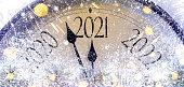 countdown to midnight retro style clock