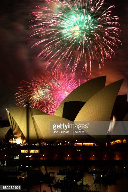 Countdown to New Year's Day is kicked off with fireworks over the Sydney Opera House