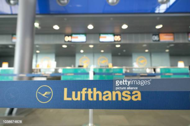 A counter of Lufthansa photographed at the LeipzigHalle airport in Schkeuditz Germany 25 November 2016 Due to the ongoing pilot strike Lufthansa...