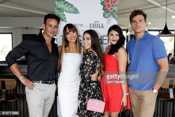 Counter Play cast members Luke StylesIsabel Dilena Mikaela Phillips Marina Diraki and Tyson Martick attend the St Kilda Festival Together Events...
