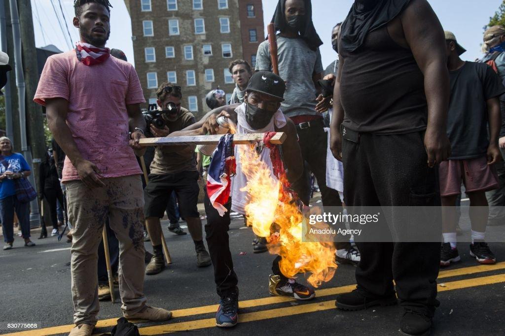 White Supremacists and Counter Protestors Clash in Charlottesville : News Photo