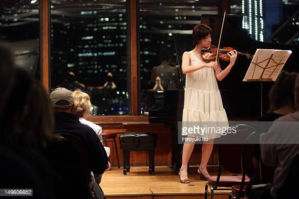 """Counter)induction performing at Bargemusic on Friday night, June 3, 2011.The program is titled """"The Excellent is New Forever.""""This image:Miranda..."""
