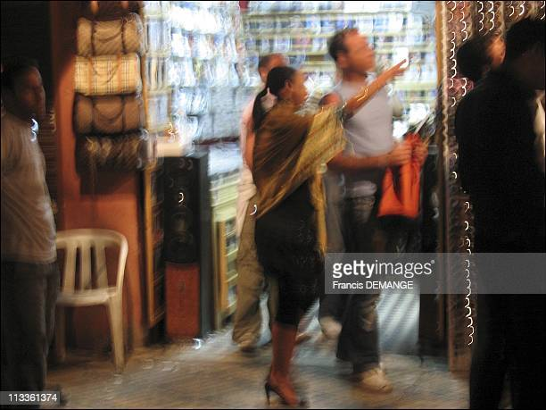 CounterInquiry On Prostitution Marrakech The New Queen Of Vice In Marrakech Morocco In May 2007 A tourist and a Moroccan woman buying a handbag in...