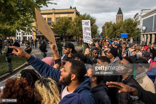 Counterprotesters demonstrate against a White Lives Matter rally on October 28 2017 in Murfreesboro Tennessee Gov Bill Haslam of Tennessee said state...