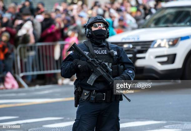 Counterterrorism officer is seen the 91st Annual Macy's Thanksgiving Day Parade on November 23 2017 in New York City