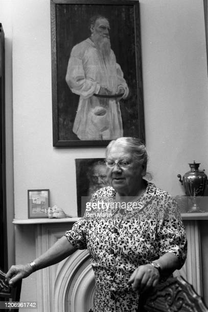 Countess Alexandra Lvovna Tolstoy youngest daughter and secretary of Leo Tolstoy and founder of the Tolstoy Foundation at Reed Farm in Valley Cottage...