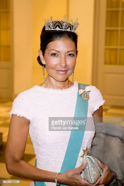 Countess Alexandra of Denmark during the gala banquet on the occasion of The Crown Prince's 50th birthday at Christiansborg Palace Chapel on May 26...