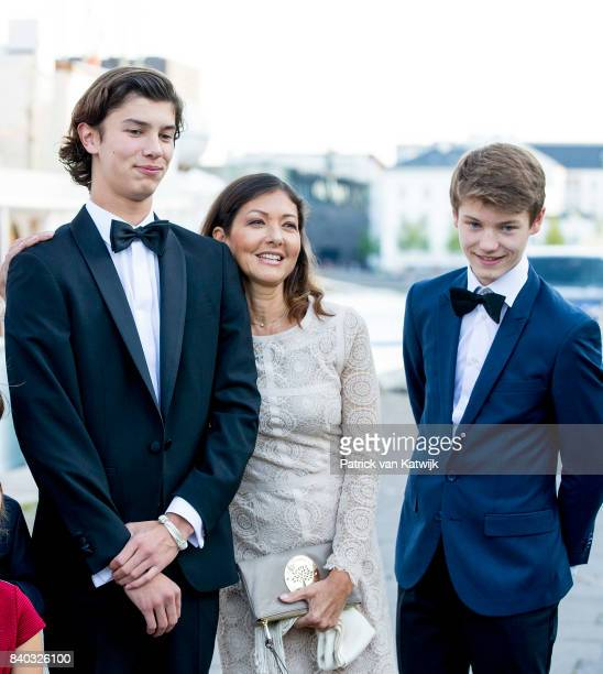 Countess Alexandra of Denmark, Prince Nikolai of Denmark and Prince Felix of Denmark attends his 18th birthday celebration of Prince Nikolai at royal...