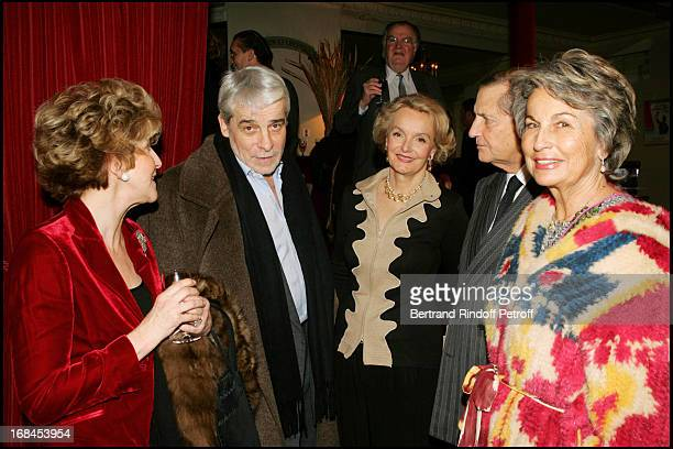 Countess Anne Marie De Ganay Jacques Weber Myriam De Colombi and Count and Countess Hubert D'Ornano at 'L'Evangile Selon Pilate' At Theatre...