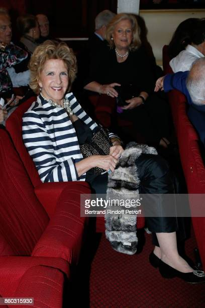 Countess AnneMarie de Ganay attends the 'Novecento' Theater Play in support of APREC at Theatre Montparnasse on October 11 2017 in Paris France