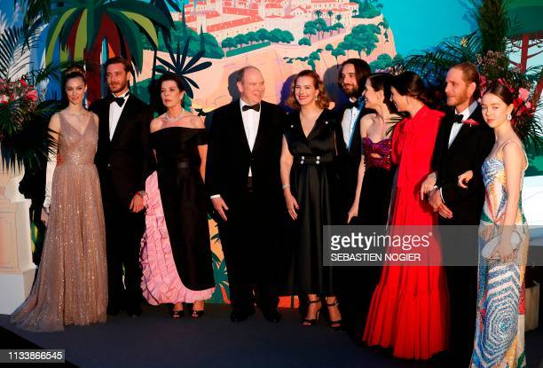 Countess Beatrice Boromeo, Pierre Casiraghi, Princess Caroline of Hanover, Prince Albert II of Monaco, French actress Carole Bouquet, Dimitri Rassam,...