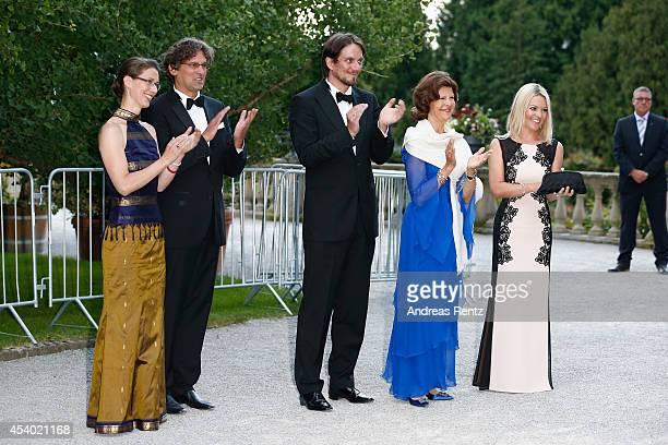 Countess Bettina Bernadotte Philipp Haug Count Bjoern Bernadotte HRH Queen Silvia of Sweden and Countess Sandra Bernadotte attend the 5th Lindau...