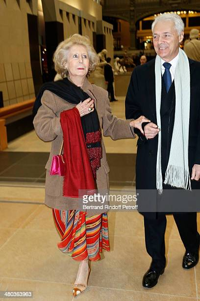 Countess Brando Brandolini d'Adda and guest attend the dinner party of the Societe Des Amis Du Musee D'Orsay at Musee d'Orsay on March 24 2014 in...
