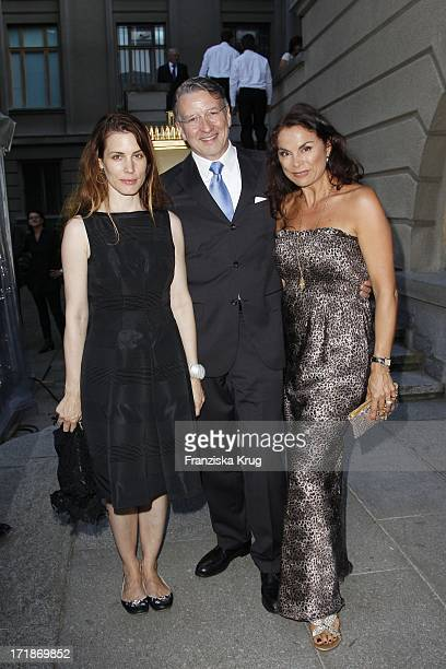 Countess Celia Von Bismarck with designer Anna Von Griesheim with husband Andreas Marx The Farewell Party The Ambassador Of The Russian Federation In...