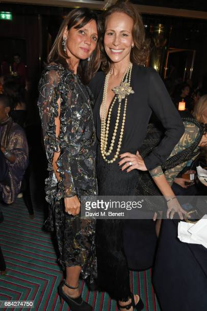 Countess Debonnaire Von Bismarck and Andrea Dellal attend a private dinner celebrating the launch of the KATE MOSS X ARA VARTANIAN collection at...