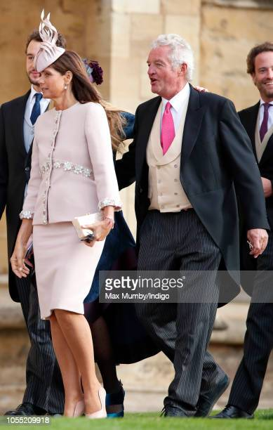 Countess Debonnaire von Bismarck and Count Leopold von Bismarck attend the wedding of Princess Eugenie of York and Jack Brooksbank at St George's...
