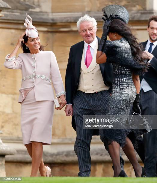 Countess Debonnaire von Bismarck Count Leopold von Bismarck and Naomi Campbell attend the wedding of Princess Eugenie of York and Jack Brooksbank at...