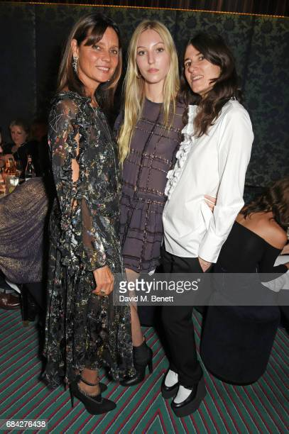 Countess Debonnaire Von Bismarck Ella Richards and Bella Freud attend a private dinner celebrating the launch of the KATE MOSS X ARA VARTANIAN...
