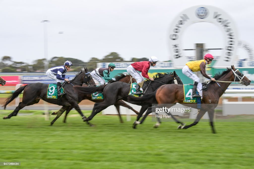 Countess Delta ridden by Ben Allen wins the Bet365 Maiden Plate at Geelong Racecourse on April 17, 2018 in Geelong, Australia.