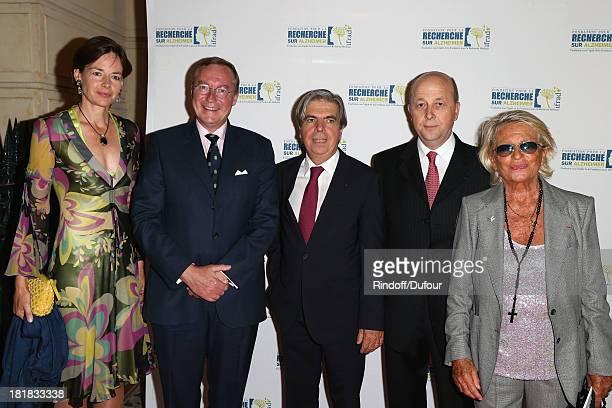 Countess Diane Of Nassau Prince Jean Of Luxembourg Professor Bruno Dubois Doctor Olivier de Ladoucette and Veronique de Villele attend the 'IFRAD'...