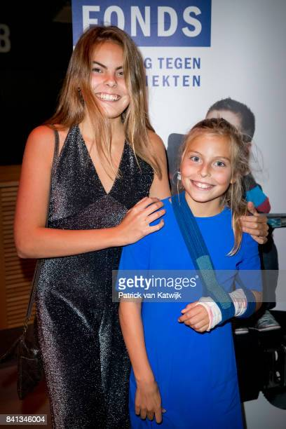 Countess Eloise of The Netherlands and Countess Leonore of The Netherlands granddaughters of Princess Beatrix attends the dance event Free to Move at...