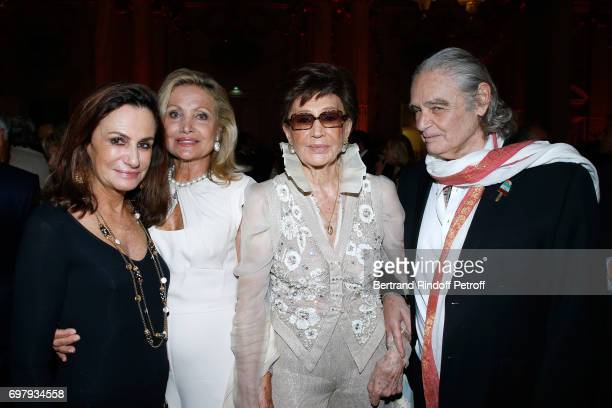 Countess Georgina Brandolini d'Adda Baroness Silvia Amelia de Waldner Countess Jacqueline de Ribes and Patrice Calmettes attend the Societe ses Amis...