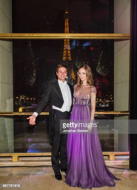 Countess Gloria de Limburg Stirum and cavalier are photographed for Vanity Fair Magazine on November 28 2015 at the Palais de Chaillot in Paris...
